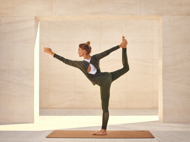 Yoga mama club posture